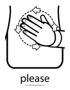 "Baby Sign Language ""Please"" sign (outline) sign language printable"
