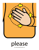 "Baby Sign Language ""Please"" sign (color) sign language printable"